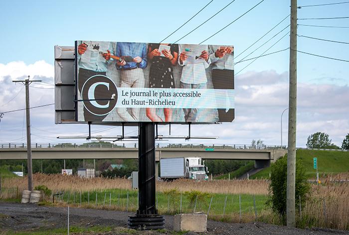 Panneau publicitaire OAIQ autoroute 2