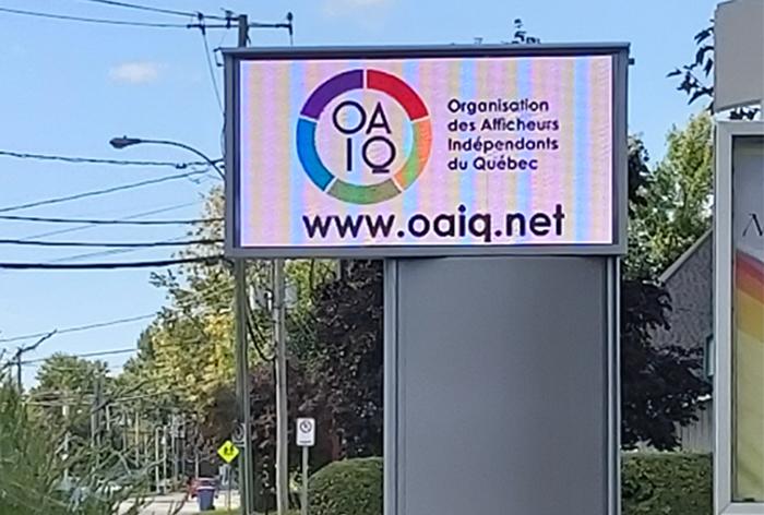 Panneau publicitaire LED OAIQ St-Zotique 2